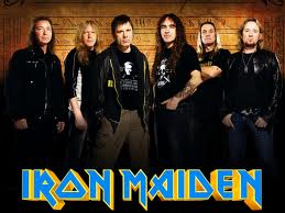 Iron Maiden:  Murray, Gers, Dickinson, Smith, McBrain y Harris